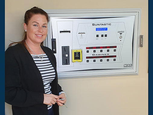 Solarium Studio Sunbody in Hämeenlinna has installed cashless payment.